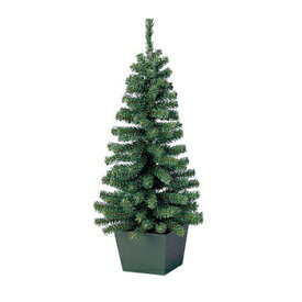 クリスマスツリー L.ミニツリー 50cm(プランター付) 【 クリスマスツリー ポット 小さい グリーンヌードツリー 小型 ポット付き 飾りなし ポットツリー 卓上ツリー 装飾 】