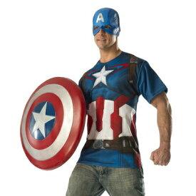 【あす楽12時まで】 コスプレ 仮装 キャプテンアメリカ Tシャツ&マスク L 【 コスプレ 衣装 ハロウィン 仮装 コスチューム シャツ メンズ マーベル グッズ アベンジャーズ パーティーグッズ 大人用 MARVEL アメコミ 公式 正規ライセンス品 Captain America 余興 】
