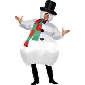 【あす楽12時まで】 インフレータブル スノーマン 【 コスプレ 衣装 仮装 大人 おもしろ クリスマス コスチューム 女性用 雪だるま 笑える 雪ダルマ 男性用 ウケる 面白 爆笑 メンズ スノーマンコスチューム レディース 大人用 男女兼用 おもしろコスチューム 】
