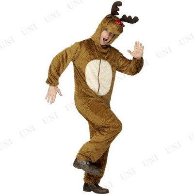 【送料無料】 トナカイコスチューム 大人用 M [ 仮装 衣装 コスプレ コスチューム 大人 メンズ おもしろ クリスマス トナカイ おもしろコスチューム 男性用 ウケる 笑える 面白 爆笑 ]