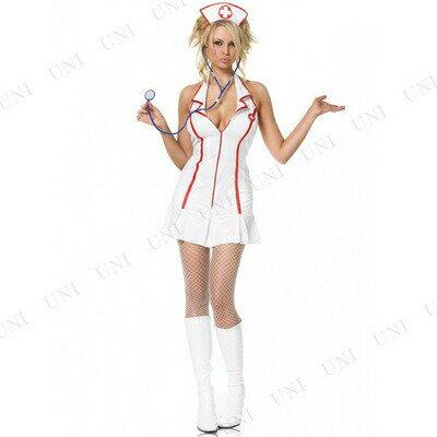 コスプレ ナース ヘッドナースコスチューム M ハロウィン 衣装 パーティーグッズ レディース 仮装衣装 看護婦 看護師 女医 大人用 女性用 ナース服