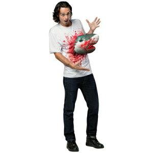 コスプレ 仮装 シャークネード 3DサメTシャツ 【 コスプレ 衣装 ハロウィン 仮装 コスチューム メンズ ティーシャツ 男性用 傷 大人用 スプラッター コスT 血 パーティーグッズ 余興 】