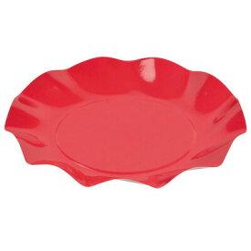 アラモード WAVEペーパープレート20cm(5枚入) レッド 10点セット 【 皿 プレート 使い捨て 食器 台所用品 キッチン用品 】