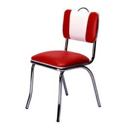 【送料無料】 Vバックチェア Vinyl Red/White 【 インテリア おしゃれ 家具 椅子 ダイニングチェア チェアー 腰掛 イス 金属製 食卓 リビングチェア いす リビング家具 】