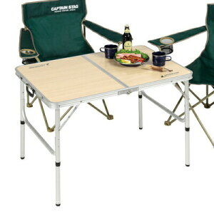 CAPTAIN STAG(キャプテンスタッグ) ジャストサイズ ラウンジチェアで食事がしやすいテーブル S UC-517 【 キャンプ用品 折りたたみ アウトドア デスク 折り畳みテーブル 机 アウトドア用品 レジャ