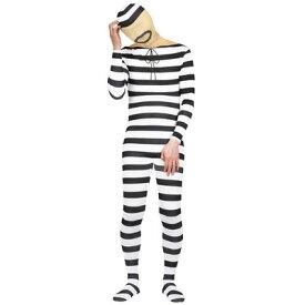 コスプレ 仮装 大人用フィットマンプリゾナー 【 コスプレ 衣装 ハロウィン 仮装 大人用 パーティーグッズ おもしろ メンズ 面白い 囚人服 プリズナー 余興 爆笑 男性用 おもしろ着ぐるみ 笑える おもしろい 面白コスチューム ウケる おもしろコスチューム 】