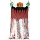 【あす楽12時まで】 BIGハンギングカーテンパンプキン 【 ハロウィン 飾り 吊り飾り 怖い 吊り物 ホラーハンギング 吊…