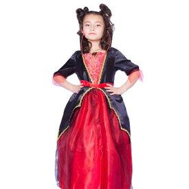 【取寄品】 コスプレ 仮装 リトルクイーン 子供用 120 【 童話 衣装 キッズ ハートの女王 コスチューム 女の子 パーティーグッズ おとぎ話 不思議の国のアリス こども 子ども用 赤の女王 ハロウィン 】