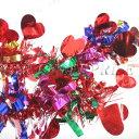 【あす楽12時まで】 ! クリスマス ツリー オーナメント Patymo 200cmパーティーモール(ハート型/レッド) 【 パーティ…