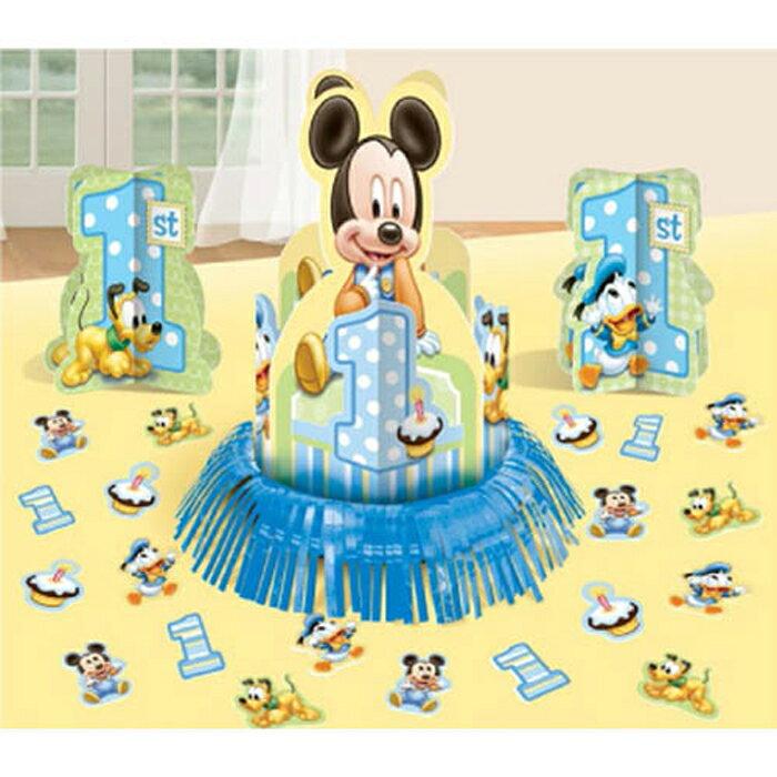 テーブルデコキット ディズニーミッキー1stバースデー【PG289566】 誕生日 バースデー パーティー ベビーミッキー ベビーミニー 1歳誕生日 テーブルウェア