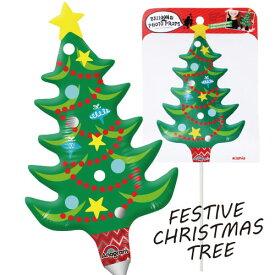 【クリスマスパーティーグッズ】クリスマスツリー バルーン バルーンフォトプロップス フェスティブクリスマスツリー1個  KIS23343