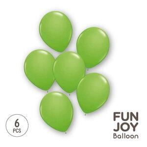 【ハロウィングッズ】FUNJOY Balloon 25cm丸型キウイライム6枚入 1パック【FJB24273】