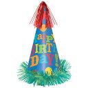 pgラージフォイルコーンハットバースデーフィーバー(帽子)(ハット)(誕生日パーティーグッズ)(バースデー)(パーティー)(サプライズ)#250305