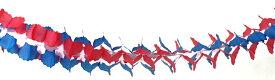 ガーランド 飾り付け ブルー レッド 300cm 日本製 紙製 デコレーション パーティーグッズ 【4点までネコポスOK】