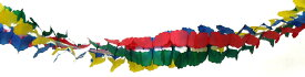 ガーランド 飾り付け ブルー イエロー レッド グリーン 300cm 日本製 紙製 デコレーション パーティーグッズ 【4点までネコポスOK】