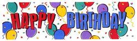 お誕生日 飾り付け プラサイン バナー ビニール製 バルーンパーティー 50cmx165cm ビッグサイズ 大きい パーティーグッズ 壁デコ ファーストバースデー