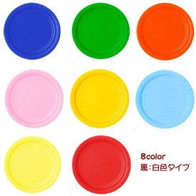 カラー 紙皿 8色 17.8cm 6枚入 7インチ 高品質!アメリカ製 パーティーグッズ 2点までネコポスOK レッド グリーン イエロー ピンク ブルー オレンジ