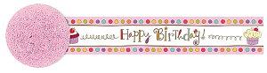 お誕生日 飾り付け ストリーマー カップケーキ バースデー 紙製 防炎加工 アメリカ基準 9.14mx4.8cm パーティーグッズ 【あす楽】
