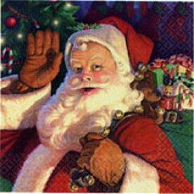 【クリスマス 紙ナプキン】 ジョリーサンタ ランチョンナプキン(アメリカ製)33cm角8枚入【2点までネコポスDM便OK あす楽】