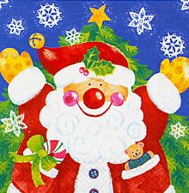 【クリスマス 紙ナプキン】 サンタクロース ランチョンナプキン(アメリカ製)33cm角8枚入【2点までネコポスDM便OK あす楽】