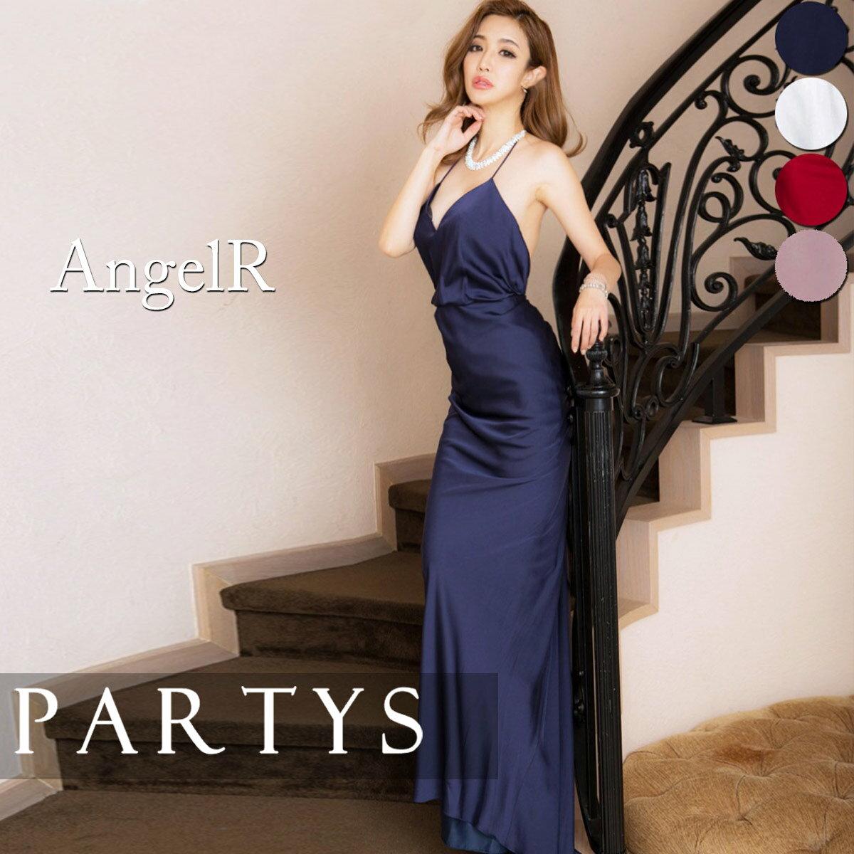 [ 送料無料 ][ あす楽 ][ Angel R ] シンプル ホルターネック ドレス ロングドレス キャバドレス | あす楽対応 キャバクラ キャバ嬢 バースデー 人気 かわいい 演奏会 ピアノ 大人 パーティー レディース 高級 結婚式 セクシー mmcwh_