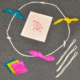 ◆マジック・手品◆特上 手を繋ぐロープとシルク(DPG チェンジバッグ「桜」付)◆R7226