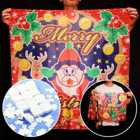 ◆マジック・手品◆ブレンドシルク「新柄クリスマス」紙吹雪(白)付(特上品Lサイズ)◆S8584