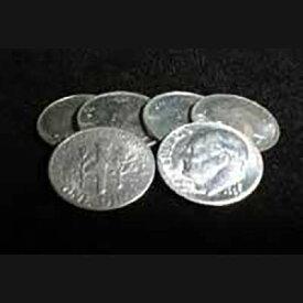 ●手品・マジック関連●コインマジック用コイン 10¢(ダイム)6枚組●P-23E