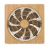 Box fan BF-T1812 natural Wood / dark Wood mounted with a DC motor