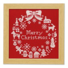 オリムパス クリスマス クロスステッチししゅうキット クリスマスリース初級 インテリア ハンドメイド【割引不可・返品キャンセル不可】
