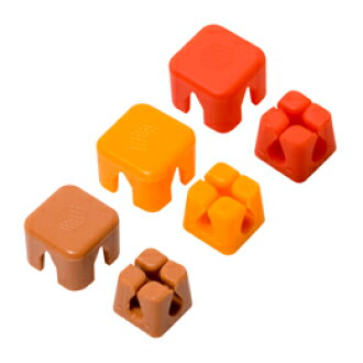 Miyoshi cable holder cube type small size red, brown, orange CM-CHCS/AS2