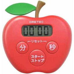 愉快上演DRETEC廚房計時器蘋果計時器廚房的T-505RD[訂購品取消退貨不可,折扣不可]