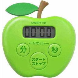 愉快上演DRETEC廚房計時器蘋果計時器廚房的T-505GN[訂購品取消退貨不可,折扣不可]