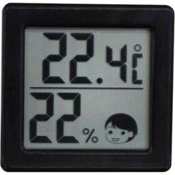 表示DRETEC溫濕度計熱衷的危險度的小的數碼的溫濕度計黑色O-257BK