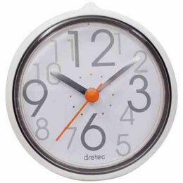 DRETEC おふろクロック スパタイム かわいいフォルムの防滴時計 C-110WT2【取り寄せ品キャンセル返品不可、割引不可】