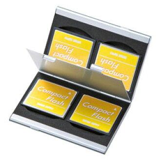 SANWA SUPPLY铝记忆卡情况(供CF卡使用的两面收藏型)FC-MMC5CFN