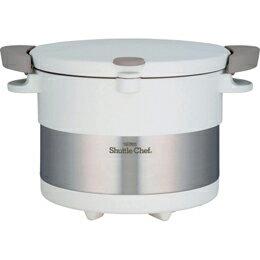 サーモス 真空保温調理器 シャトルシェフ(3L) ピュアーホワイト C7199639【取り寄せ品キャンセル返品不可、割引不可】