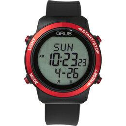 GRUS 腕時計 歩幅計測 ウォーキングウォッチ GRS001-01【割引サービス不可、取り寄せ品キャンセル返品不可、突然終了欠品あり】