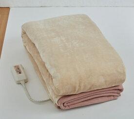 【メーカー直送・大感謝価格】フランネル電気毛布 OLK-M340 セミダブルサイズ相当 掛け敷き兼用 手洗い可能