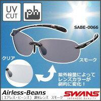 【大感謝価格】 山本光学 SWANS スワンズ Airless-Wave エアレス・ウェイブ 調光レンズ スモーク SA-518 日本製 【返品キャンセル不可】