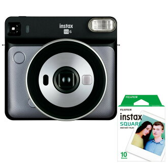 Graphite gray belonging to square film 1P (ten pieces) for exclusive use of FUJIFILM (Fuji Film) チェキスクエア instax SQUARE SQ6