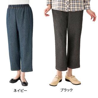 엉덩이 스룩과 데님 팬츠 부인(밑아래 64 cm) 89396 31・블랙・M