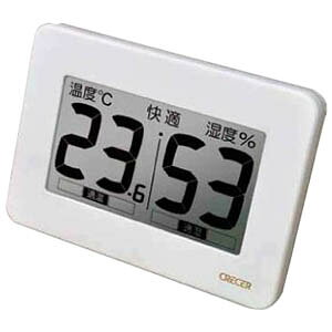 【直送品・大感謝価格 】デジタル温度計・湿度計 壁掛け・卓上両用 CR-3000W