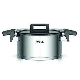 大感謝価格『WOLL(ウォル) フタ付両手鍋 20cm 120NC』(物流倉庫出荷品。代引不可・同梱不可・返品キャンセル・割引不可)なべ デザイン スタイリッシュ キッチン 調理道具 アイテム WOLL(ウォル) フタ付両手鍋 20cm 120NC送料無料