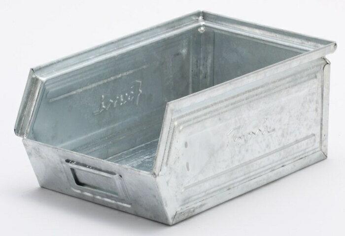 【メーカー直送・大感謝価格】Fami Fami スチールコンテナ 9.4L GALVANIZED亜鉛メッキ処理 ガァルヴァナァィズ:002422 外径W200xD350xH145mm 内径W181xD298xH135mm