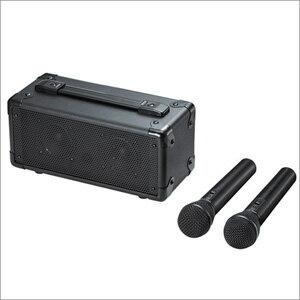 【大感謝価格】ワイヤレスマイク付き拡声器スピーカー MM-SPAMP7 スピーカー/W297×D133×H152mm ワイヤレスマイク/口径直径36×240mm