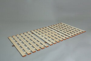 【物流倉庫出荷品・大感謝価格】薄型軽量桐すのこベッド 3つ折れ式 LYT310 セミダブル W120×D200×H1.8cm 6.5kg 天然木(桐)