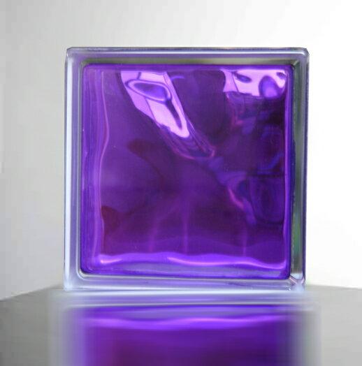 『ガラスブロック190x190x95日本基準サイズ 紫色』(割引不可)インテリア 人気 おしゃれ アイテムグッズ『メーカー直送品。代引・同梱・返品・キャンセル・割引不可』(別途修正しても必ず送料発生品)