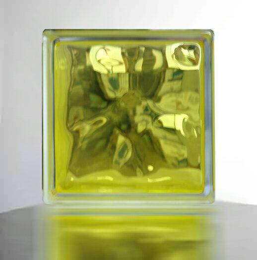 『ガラスブロック190x190x95日本基準サイズ レモン イエロー』(割引不可)インテリア 人気 おしゃれ アイテムグッズ『メーカー直送品。代引・同梱・返品・キャンセル・割引不可』(別途修正しても必ず送料発生品)