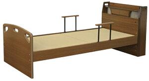【直送品】大商産業木製畳ベッド(手摺2個付)--TFB-290BR【別途送料発生は連絡します、割引キャンセル返品不可】